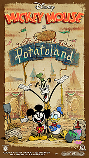 New 'Potatoland' Poster Revealed in Countdown Series to Opening of Mickey & Minnie's Runaway Railway