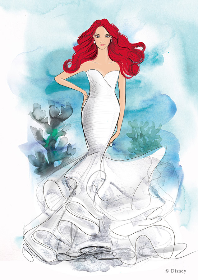 Disney Fairy Tale Weddings Collection from Allure Bridals - Ariel