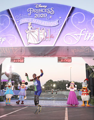 Double Amputee was the Fourth Runner to Cross the Finish Line in the Disney Princess Half Marathon