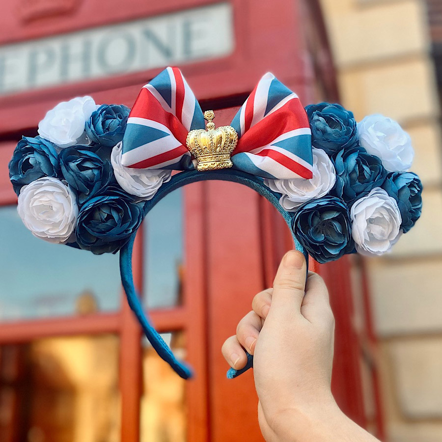 First Look: New United Kingdom-Inspired Minnie Headband Now Available at Epcot