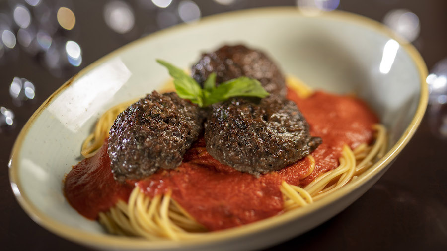 Spaghetti and Mushroom Meatballs from Tony's Town Square Restaurant at Magic Kingdom Park