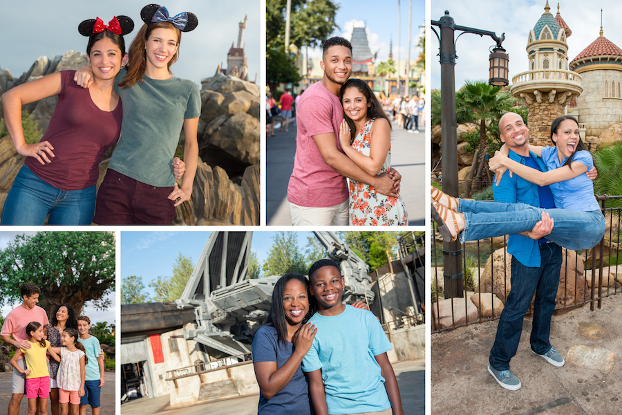 Valentine's Day photo options from Disney PhotoPass Service at Walt Disney World Resort