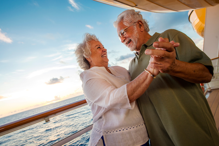 Couple dancing on Disney Cruise Line