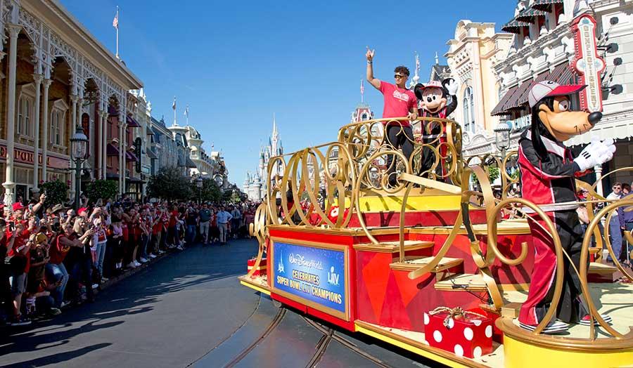 Super Bowl LIV MVP Patrick Mahomes Spends a Magical Day at Walt Disney World Resort