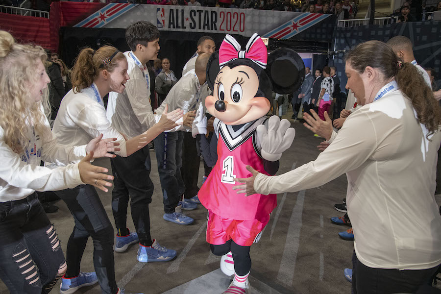 Minnie Mouse Joins Special Olympics Athletes and Fans at NBA All-Star 2020 In Chicago