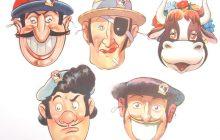 Disney Ferdinand The Bull Post Toasties Masks