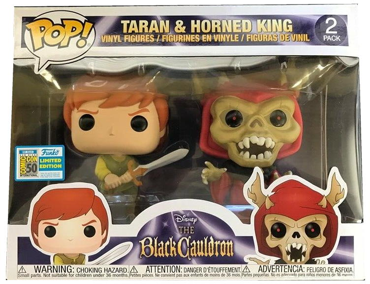 SDCC 2019 Exclusive Funko Pop The Black Cauldron Taran And Horned King 2-Pack