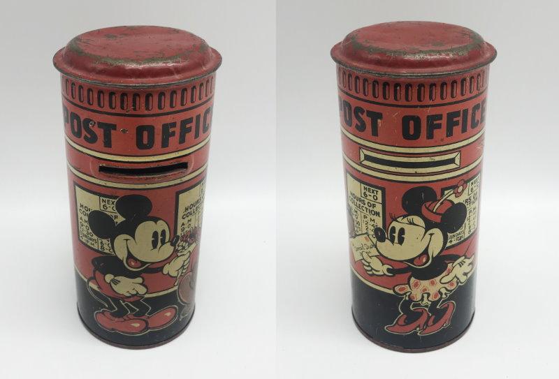 mickey mouse tin post box money box