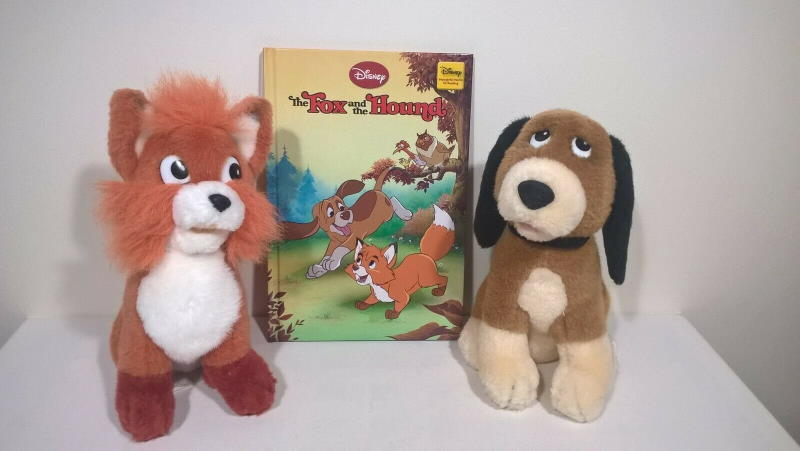 vintage fox and the hound soft toys