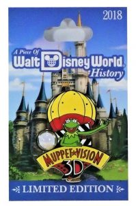 Disney Piece of History 2018 Muppet Vision 3-D Kermit Pin Of Month