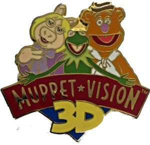 Disney Trading Pin Muppet 3D Vision featuring Miss Piggy Kermit and Fozzie Bear