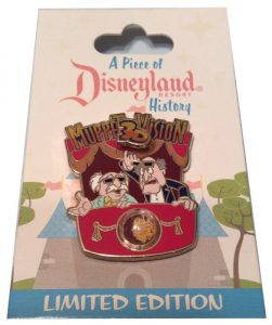 disneyland resort muppet 3d vision pin