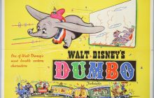 disney dumbo quad poster